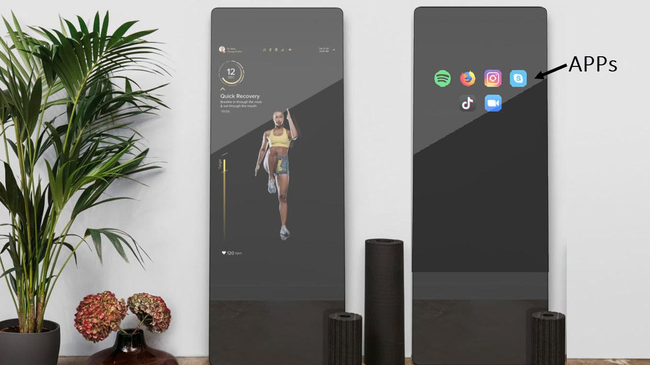 VAHA Digitale Smart Fitness Spiegel - App Nutzung