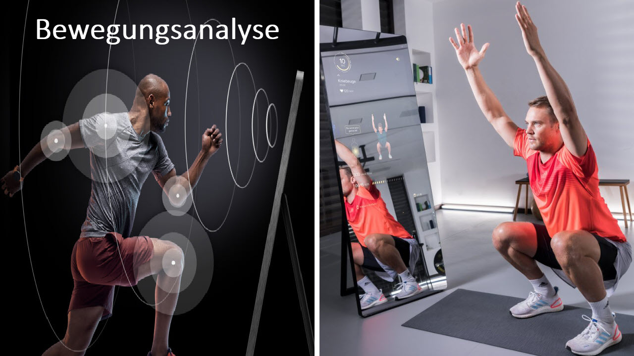 VAHA Digitale Smart Fitness Spiegel - Bewegungsanalyse Sensoren