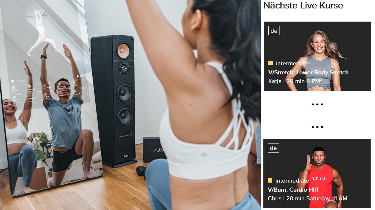 VAHA Digitale Smart Fitness Spiegel - Online Live Fitnesskurse