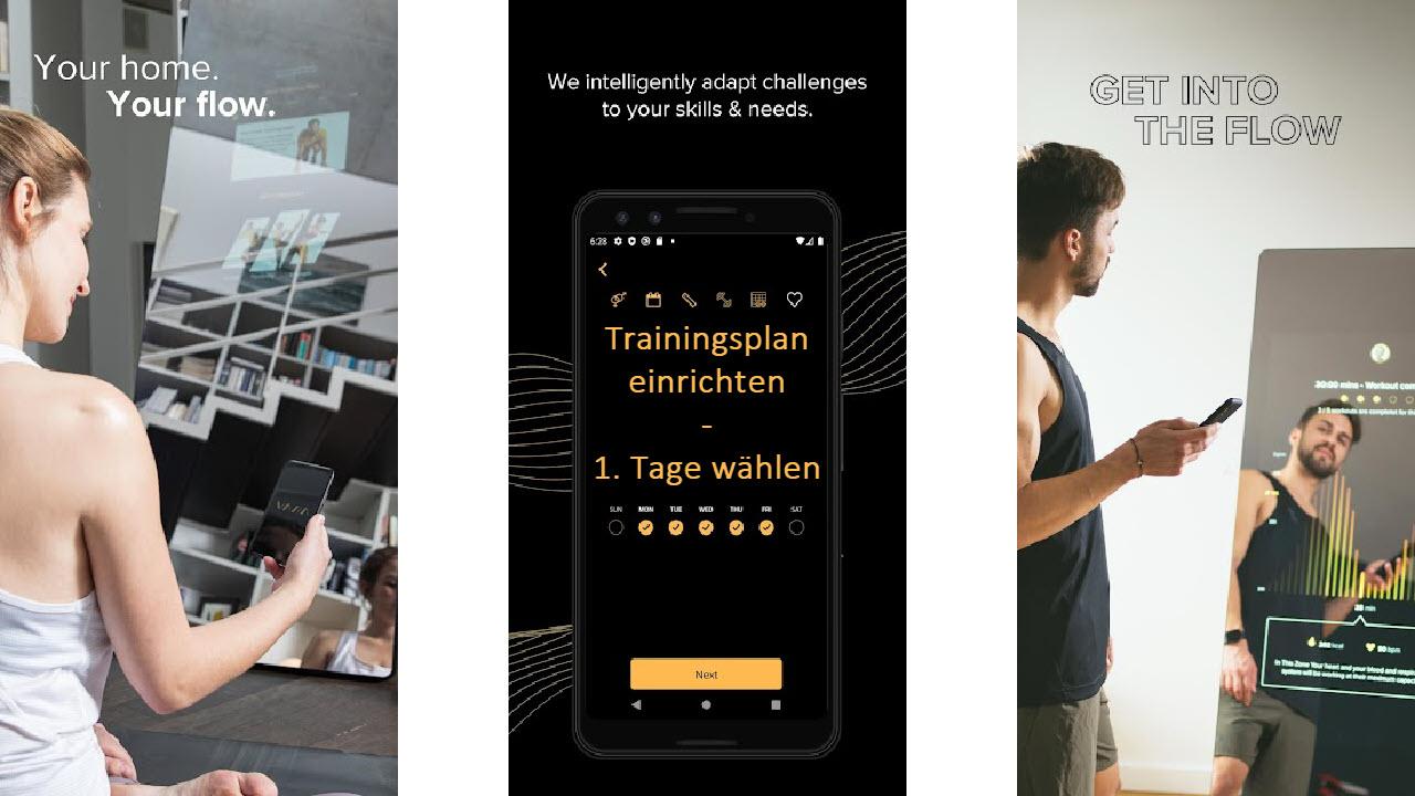 VAHA Digitale Smart Fitness Spiegel - Trainingsplan App