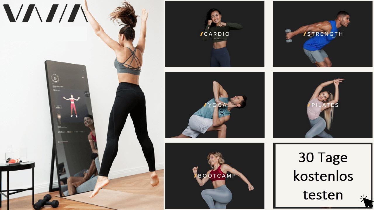 VAHA Fitness Spiegel - Fitnessstudio Training Zuhause ohne Geräte