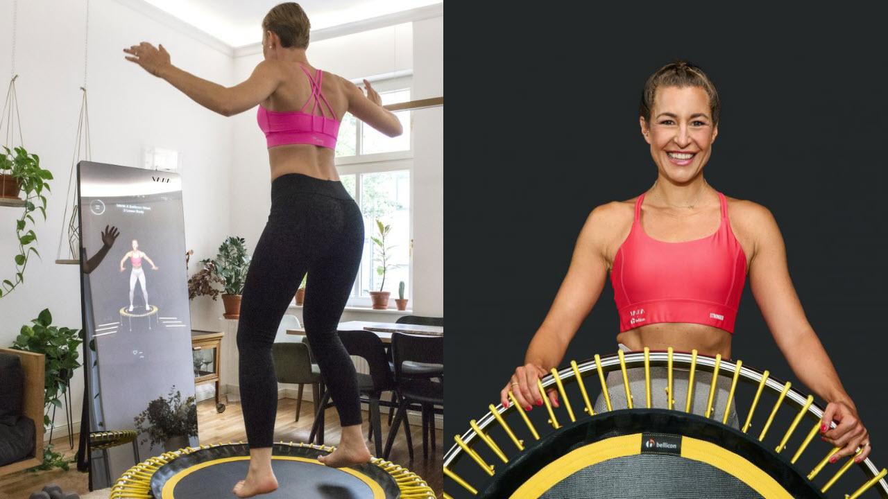 VAHA Smart Fitness Spiegel - Bellicon Trampolin Online Fitnesskurs
