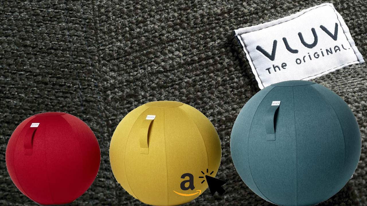 VLUV LEIV Stoff-Sitzball ergonomisches Sitzmöbel für Büro und Zuhause