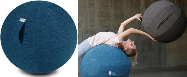 Vluf Stoff Sitzball - Gymnastikbälle mit Bezug