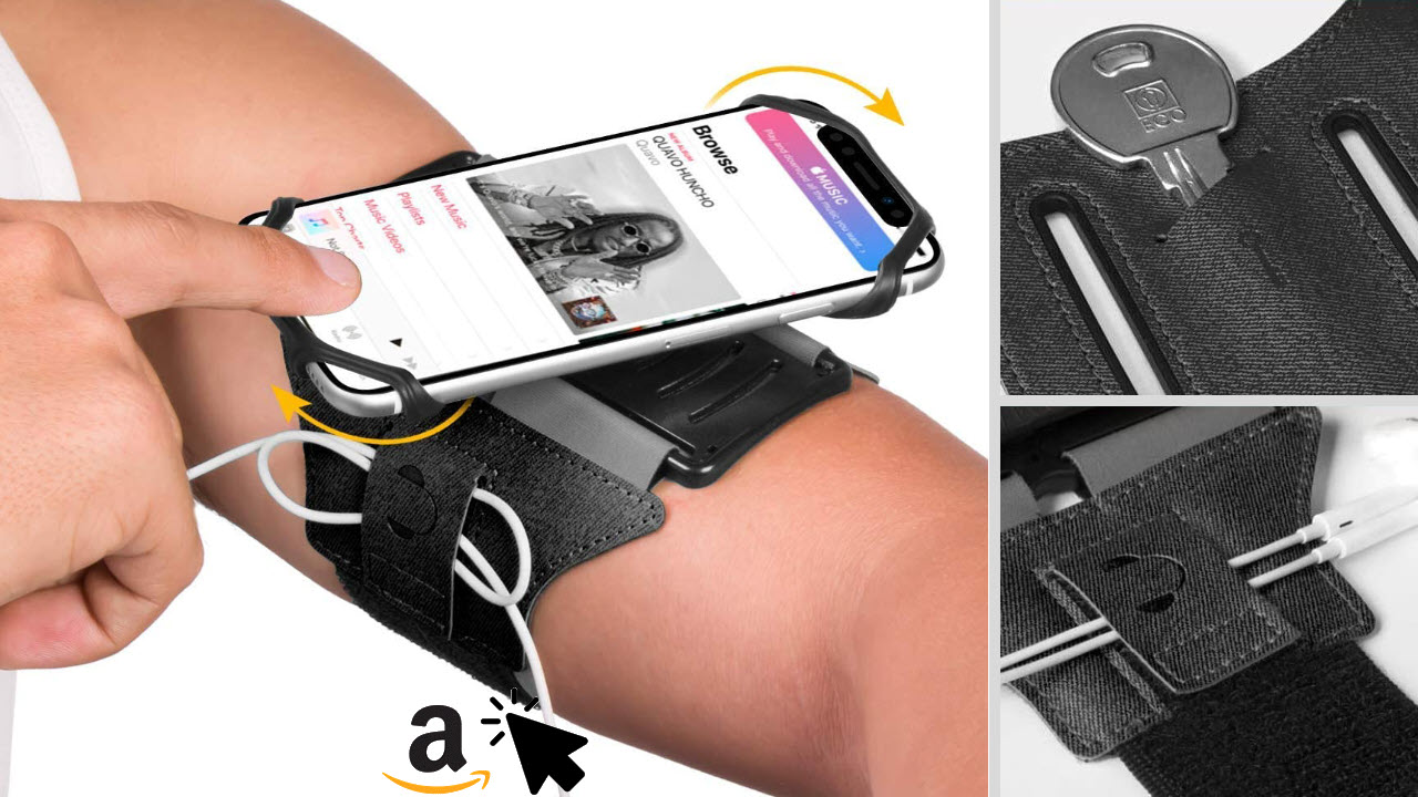 VUP Running Armband 180° drehbar für alle Smartphones