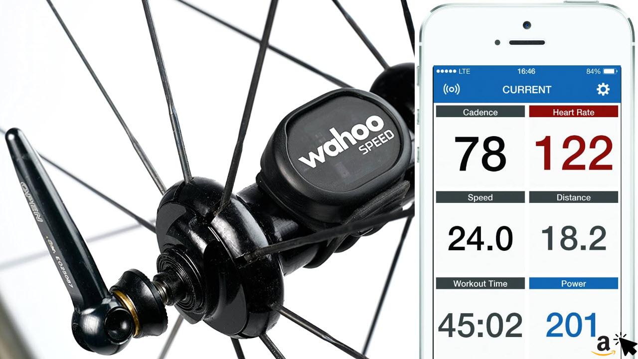 Wahoo RPM Geschwindigkeit Sensor Bluetooth Fahrradcomputer für iPhone & Android Smartphones