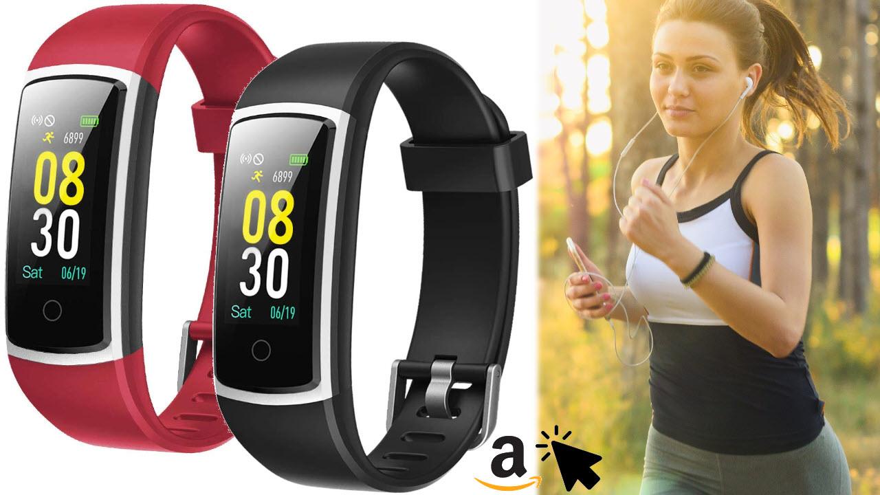 YAMAY Fitness Armband mit Schrittzähler Pulsuhr Smartwatch Blutdruckmessung