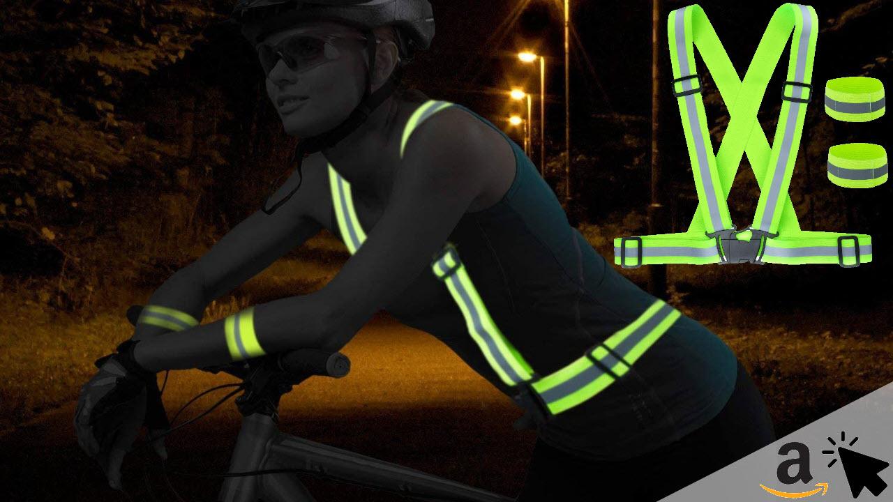 ZWOOS reflektierende verstellbare Fahrrad Warnweste