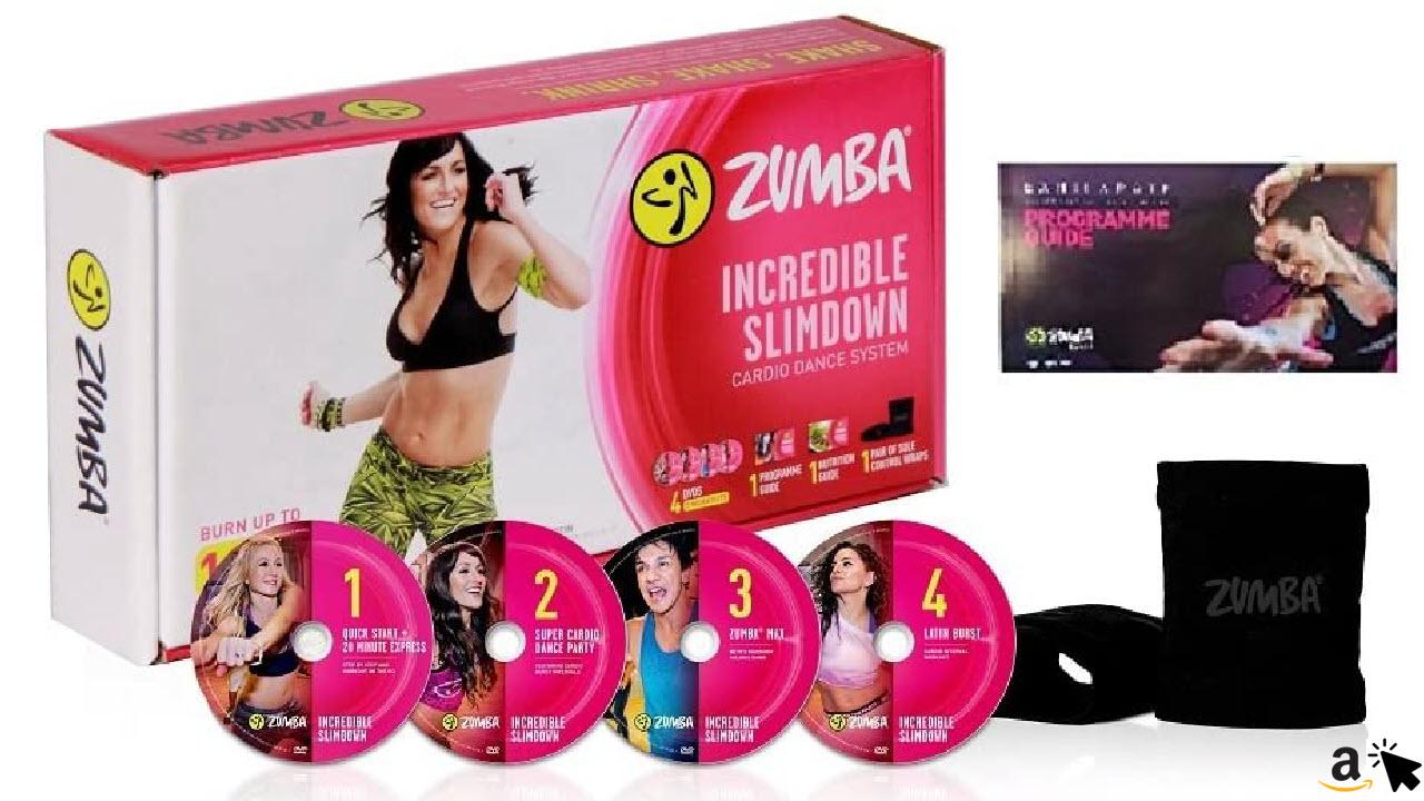 Zumba Incredible Slimdown Set mit 4 DVDs in Deutsch mit Ernährungsplan