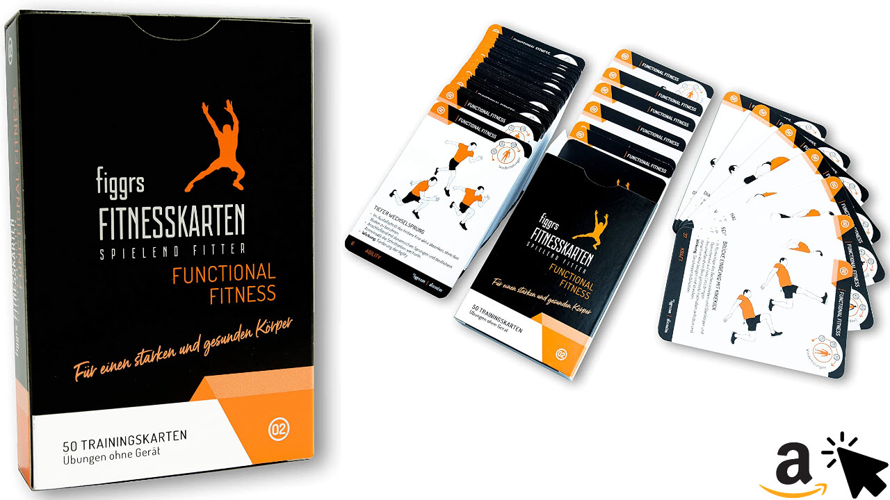 figgrs Trainingskarten Functional Fitness - 50 Bodyweight Übungen
