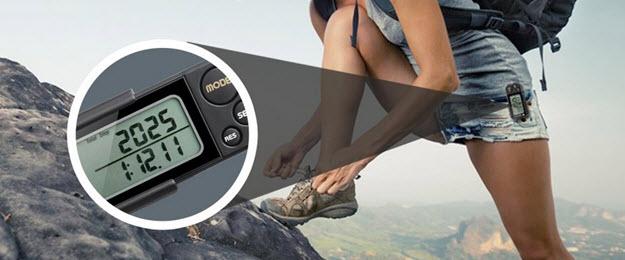 icefox 3D Schrittzähler zum anstecken für die Hosentasche mit Fitness AktivitätenZähler