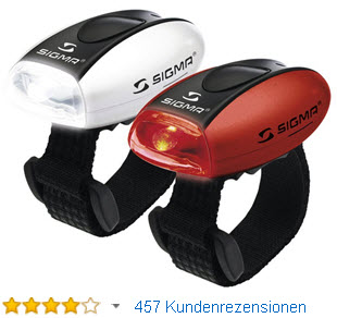 SIGMA SPORT Fahrrad Beleuchtungsset Micro Combo