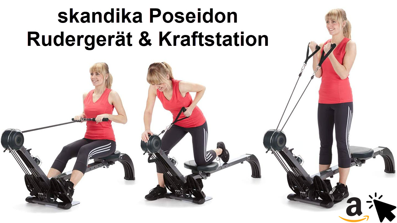 skandika Rudergerät und Kraftstation Regatta Multi Gym Heimtrainer Poseidon